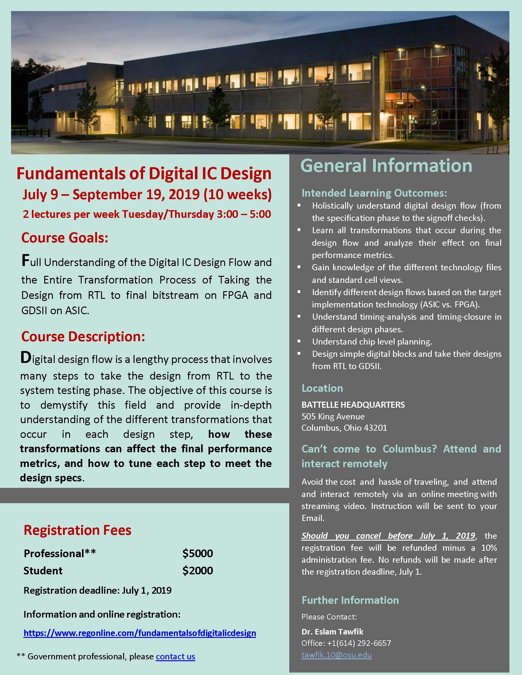 Fundamentals of Digital IC Design - New Course