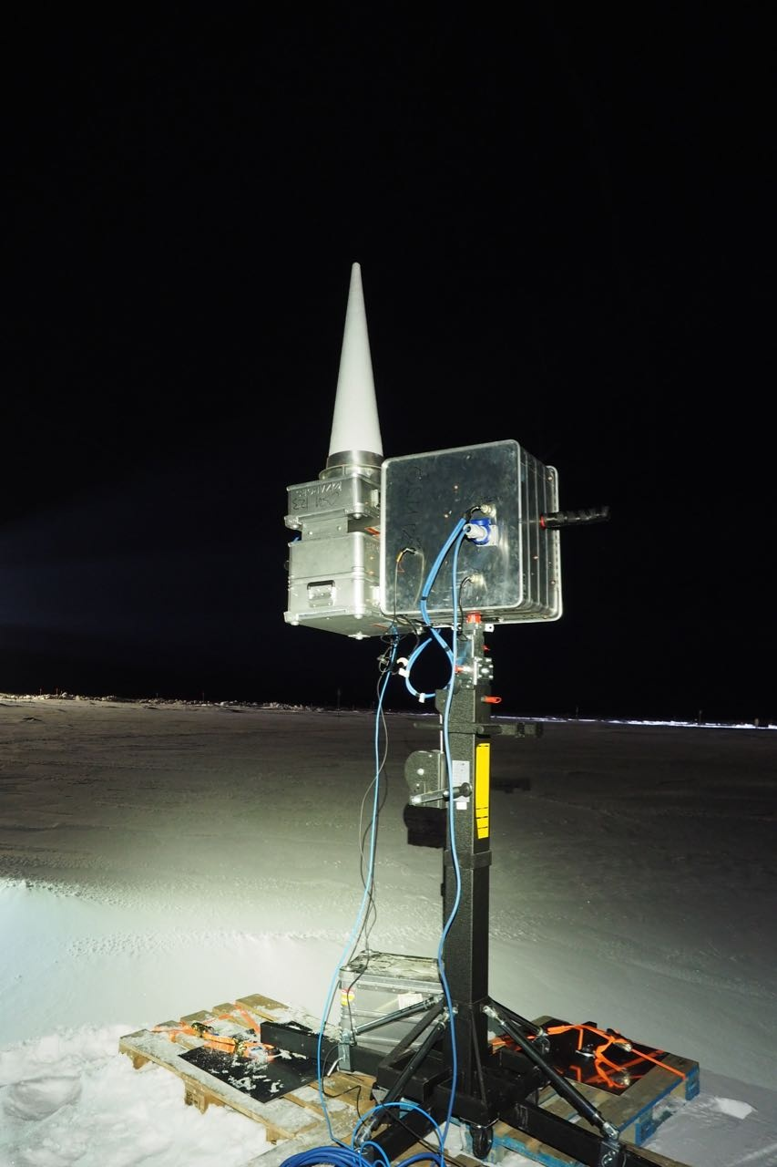 Ph.D. student Oguz Demir's photo of the ultra-wideband radiometer.